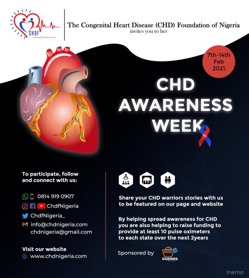 The Congenital Heart Diseases Foundation Of Nigeria Holds Her Annual CHD Awareness Week